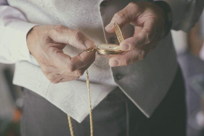 orario della cerimonia, orologio da taschino